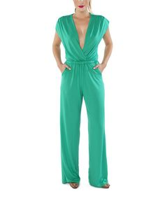 Look what I found on #zulily! Emerald V-Neck Jumpsuit by Ripley Rader #zulilyfinds
