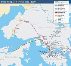 Hong Kong ist eine große Stadt und eine der besten Wege Sie zu erkunden ist mit der U-Bahn (MTR, Mass Transit Railway). Sie begann im Jahr 1979 zu funktionieren und ist der beliebteste öffentliche Verkehrsmittel in Hong Kong. Fast die Hälfte der Bevölkerung, etwa 4,2 Millionen Menschen, verwendet Sie jeden Tag. Es gibt U-Bahn-Haltestellen in fast allen Bereichen Hong Kongs.