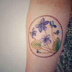 Gorgeous violet tattoo