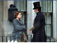 Daniela Denby-Ashe (Margaret Hale) & Richard Armitage (Mr. John Thornton) - North & South directed by Brian Percival (TV, Mini-Series, BBC, 2004) #elizabethgaskell