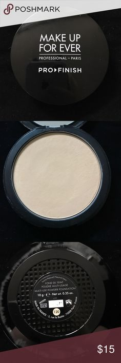 Make up forever pro finish multi use powder Barley used. Color 120 Makeup Face Powder