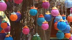 Shweshwe decorations on a Baobab Tree: celebrating the Festive Season in Africa. Baobab Tree, Summer Christmas, Needle And Thread, Diy Party, South Africa, Roots, Festive, Recycling, Arts And Crafts