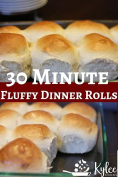 Hot Fluffy 30 Minute Dinner Rolls What do you do when you need dinner rolls soon, and want them to be homemade, AND you need them asap? MAKE THIS RECIPE and pull hot, fluffy rolls out of the oven in about 30 minutes. Quick Dinner Rolls, Fluffy Dinner Rolls, No Yeast Dinner Rolls, Recipe For Dinner Rolls, Dinner Roll Recipe No Milk, Recipes Dinner, Dinner Rolls Bread Machine, Pasta Recipes, Crockpot Recipes