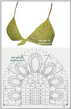 Captivating Crochet a Bodycon Dress Top Ideas. Dazzling Crochet a Bodycon Dress Top Ideas. Motif Bikini Crochet, Bikinis Crochet, Crochet Bra, Crochet Woman, Crochet Blouse, Crochet Chart, Crochet Clothes, Crochet Patterns, Crochet Stitch