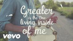 MercyMe - Greater (Official Lyric Video) Bring your tired,  Bring your shame, Bring your guilt, Bring your pain. Don't you know that's not your name? You will always be much more to Me. Everyday I wrestle with the voices that keep telling me I'm not right. But that's alright...  Cause I hear a voice and He calls me redeemed, when others say I'll never be enough. And greater is the One living inside of me, than he who is living in the world.