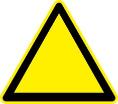 Empty Yellow Triangle Clip Art