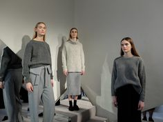 Monochrome minimalism from Whistles for AW14 at LFW
