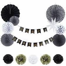 Resultado de imagen para decoracion fiesta de cumpleaños negro blanco y dorado