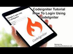 CodeIgniter Tutorial: How To Login Using CodeIgniter - YouTube