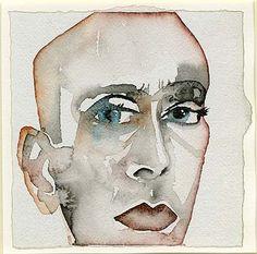 'Self-Portrait.' Painting by Francesco Clemente. Modern Drawing, Modern Art, Gouache Painting, Painting & Drawing, Watercolor Portraits, Watercolor Art, Jonathan Borofsky, Italian Artist, Museum Collection