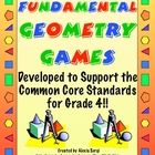 Have a blast with these geometry games designed specifically for 4th Grade Common Core Standards! Buy them now and be ready for next year. $5.50