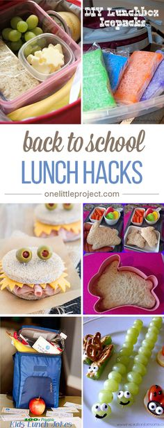 This list of back to school lunch hacks is AWESOME! Put together fun and easy lunches without eating up your entire morning!