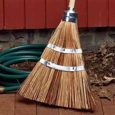 Heavy-Duty Garden & Garage Brooms  - Garrett Wade