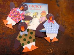 Our Tacky Penguins. Craft inspiration and printable template courtesy of I Heart Crafty Things.