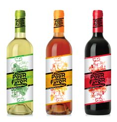Wine packaging: Pour Favor by Elody Chappuy