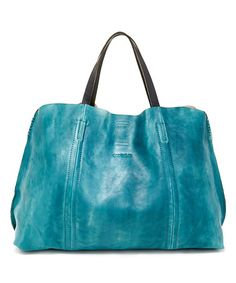 Love this Aqua Forest Island Leather Tote on #zulily! #zulilyfinds