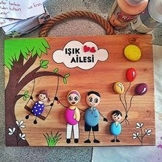 No photo description. Stone Crafts, Rock Crafts, Fall Crafts, Clay Crafts For Kids, Diy And Crafts, Paper Crafts, Canvas Painting Designs, Clay Wall Art, Painted Rocks Craft