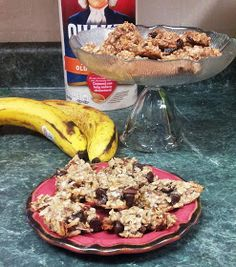 Two ingredient cookies! Just mash two bananas with one cup of oats. Bake at 350 for 15 minutes and you've got a yummy, clean dessert or breakfast! Add nuts, cinnamon, honey, or chocolate chips for some extra umph!