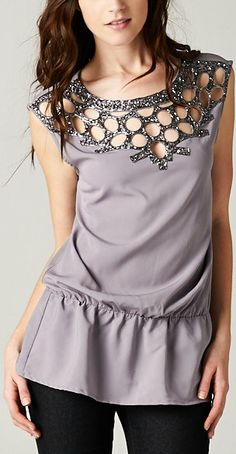 Jolique Top.  I like the embellishment, I'm not a fan of the color or the drop waist.