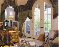 Love the french doors in the bedroom
