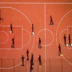 Children playing basketball during the school break in Vilnius