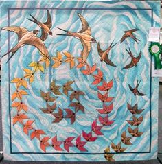 On The Wing By Pam Hill Said This Wholecloth Quilt