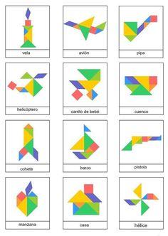 Tangram imágenes para descargar e imprimir
