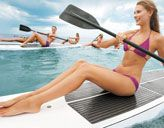 """Fun way to sculpt! """"SUPing"""" = Stand-Up Paddleboard workout. Self Magazine shows us how to do it - even without the water!"""