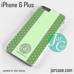 Versace Green Polkadots Phone case for iPhone 6 Plus and other iPhone devices
