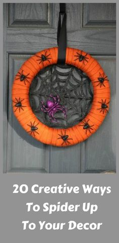 20 Creepy Ways To Spider Up Your Decor For Halloween ... see more at PetsLady.com ... The FUN site for Animal Lovers