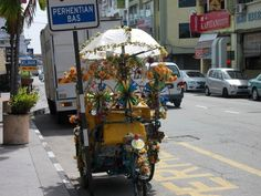 Throwback Travel Picture: Crazy Looking Pedicab in Penang Malaysia Plus an Inspirational Lesson for You
