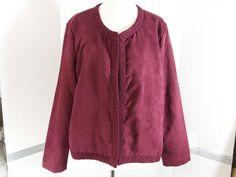 Christopher Banks open Jacket Burgundy Size XL NWT #ChristopherBanks #DressyopenJacket