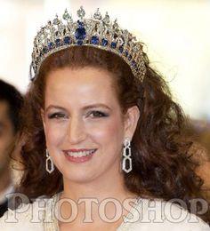 Lalla Salma of Morocco in the Dutch Mellerio Sapphire tiara.