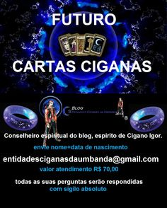 Entidades Ciganas da Umbanda (Clique Aqui) para entrar.: FUTURO VIA CARTAS CIGANAS ( CONSELHEIRO ESPIRITUAL...