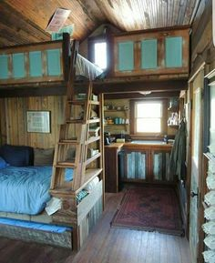 House interior Wonderful Rustic Tiny House Ideas That You Need To Have (Design And Decoration) Tiny House Cabin, Tiny House Living, Tiny House Plans, Tiny House Design, Cottage House, Cabin Homes, Living Room, Living Walls, Loft Design