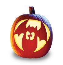 Fatty Batty Pumpkin Carving Pattern