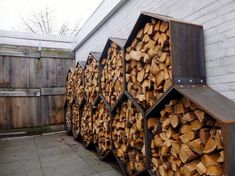 You want to build a outdoor firewood rack? Here is a some firewood storage and creative firewood rack ideas for outdoors. Lots of great building tutorials and DIY-friendly inspirations! Outdoor Firewood Rack, Firewood Shed, Outdoor Storage, Indoor Firewood Storage, Outdoor Life, Outdoor Living, Rack Design, Storage Design, Outdoor Projects