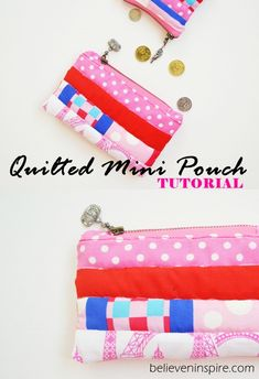 Mini Quilted Pouch T
