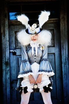 steampunk white rabbit cosplay - Google Search