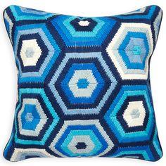 All Pillows - Tonal Blue Bargello Honeycomb Pillow Modern Throw Pillows, Blue Throw Pillows, Scatter Cushions, Toss Pillows, Accent Pillows, Decorative Pillows, Luxury Sofa, Bargello, Room Rugs