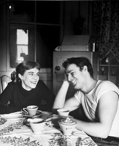 Marlon Brando and his sister Jocelyn photographed by Lisa Larsen, 1948.