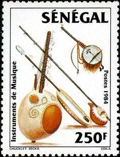Senegal - musical instruments. Stamps-Old World
