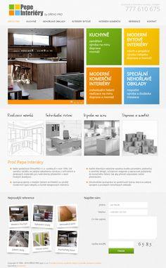 Webové stránky pro společnost zabývající se zakázkovou výrobou, z přírodních a deskových materiálů. Více na www.pepeinteriery.cz