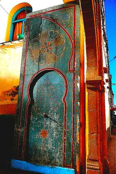 Africa | 'Essaouira Door'.  Morocco.  ©  omphale44, via Flickr