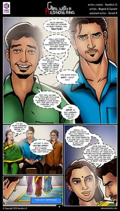 Sivappu Kal Mookuthi (a.a Girl with a Red Nose Ring): Page 06 Comic Book In Hindi, Online Comic Books, Comics Online, Comics Pdf, Download Comics, Free Comics, Horror Books, Horror Comics, Tamil Comics