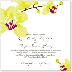 Green or eco friendly wedding invitations