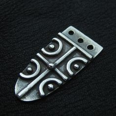 Silver Anglo-Saxon strap end from The Sunken City by DaWanda.com