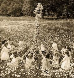 One of the symbols of Beltane is the May Pole, & its dance which is said to encourage the return of fertility to the Earth. The pole itself is not only a phallic symbol but also the connector of the Three Worlds. Dancing the May Pole during Beltane is a conduit of energy, connecting all three worlds at a time when the gateways are most easily penetrable. The energy created by people dancing around the May Pole penetrates down into the Earth bringing about Her full awakening & fruitfulness.