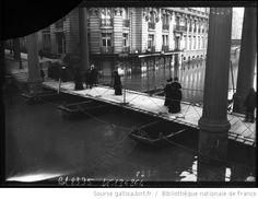 Crue de la Seine de 1910. Quai de Passy. 16ème arr.