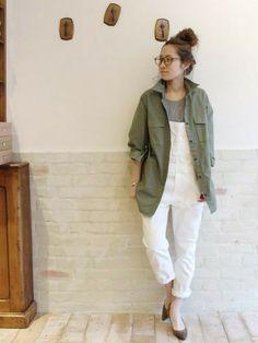 Spick & Span 本社|haruさんのシャツ/ブラウス「≪予約≫C/Ny ミリタリーシャツ。」(FRAMeWORK|フレームワーク)を使ったコーディネートです。